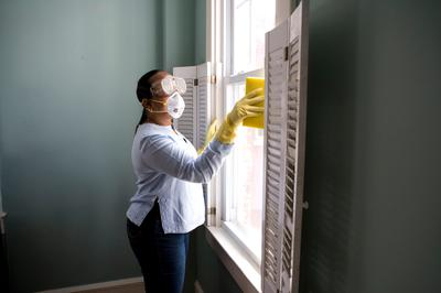 Cleaning the Window Frame